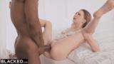 Blonde Petite gets biggest black Cock