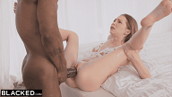 Blonde Petite gets biggest black Cock