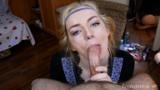 Best POV Deepthroat – I cum in her wet Throat